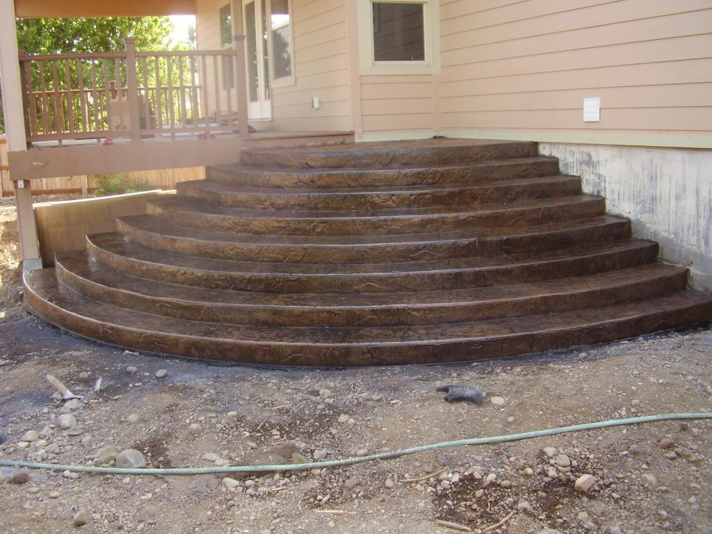 Stamped Concrete Home : Spokane stamped concrete home